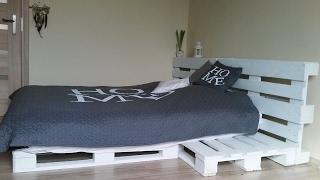 Łóżko z palet - zrób to sam / DIY