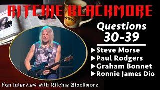Ritchie Blackmore interview ⚔️ Questions 30-39 Steve Morse Paul Rodgers Dio Bonnet 1996 Rainbow Fans