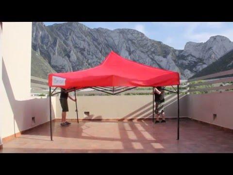 Toldos y Carpas Plegables en Monterrey (Estructura de Acordeón con Lona Impermeable)