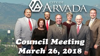 Preview image of Arvada City Council Meeting - March 26, 2018