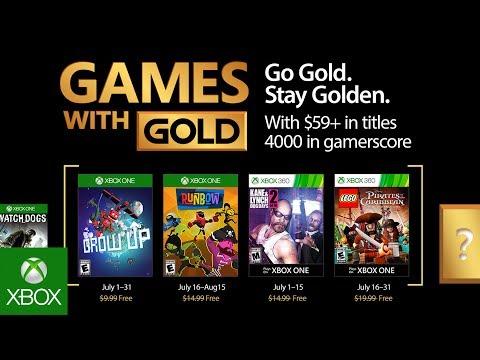 Games with Gold di luglio 2017: svelati i titoli gratuiti per Xbox One e 360