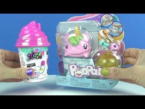 Pooparoos Squishy und DIY Slime Bubble Schleimblasen machen Schleimvideo für Kids