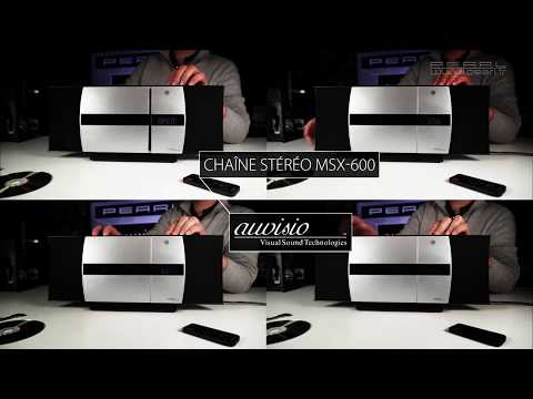CHAINE stéréo VERTICALE 20W MS-600 - Bluetooth - USB - FM - CD - [PEARLTV.FR]