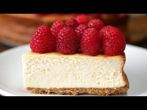 Lighter Raspberry Cheesecake