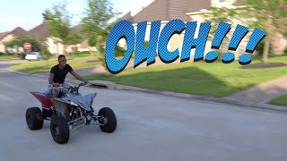 TEACHING MY BROTHERS HOW TO RIDE A CLUTCH 4 WHEELER