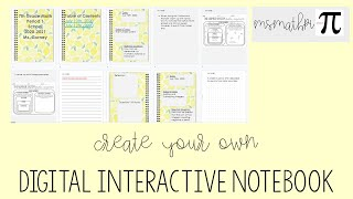 How To Create Your Own Digital Interactive Notebook
