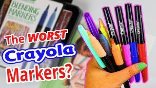 I WANT MY MONEY BACK CRAYOLA! ...Blend & Shade Marker Review