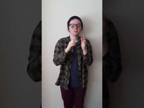 Screenshot of video: Welcome message in BSL