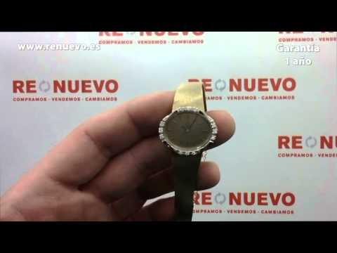 Reloj OMEGA de oro de 18 kilates con diamantes de segunda mano E239927J