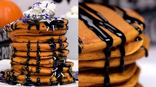 Pumpkin Pancakes | DIY Halloween Recipe Videos | Fun Food Ideas By So Yummy
