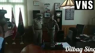 Dilbag Singh IPS today took over as the DGP of J&K Police.On his arrival he was received b