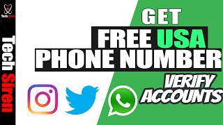 How to get a free US phone number. use it to verify accounts.