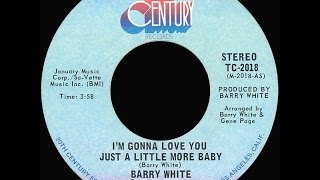 Barry White ~ I'm Gonna Love You Just A Little More Baby 1973 Disco Purrfection Version