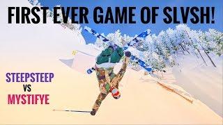 First Ever Game of SLVSH on Steep (SKATE ON SNOW) Steep vs Mstifye