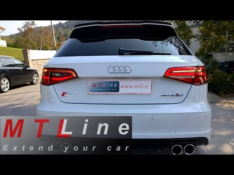 Rear facelift LED lights with dynamic blinkers retrofit to Audi A3 Sportback, MY2014