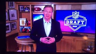 Roger Goodell booed in NFL virtual draft 2020
