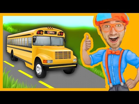 Blippi Wheels On The Bus | Songs For Toddlers