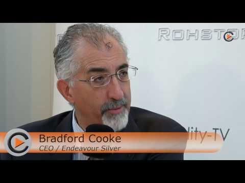 Endeavour Silver CEO Bradford Cooke at the Edelmetallmess...