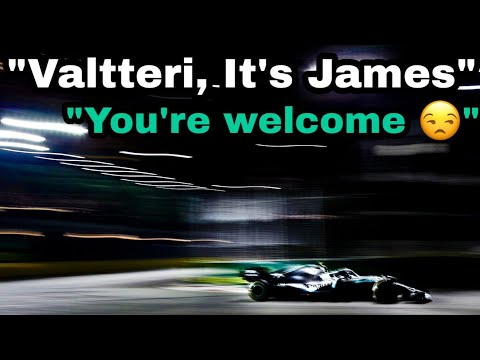 "Image: ""Valtteri it's James"" Listen to Bottas receive team orders from James... Again!"