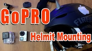GoPro Helmet Mounting Top and Front Adhesive Tips