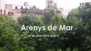 preview picture of video 'Gota fría en Arenys de Mar (29 de Junio de 2014)'