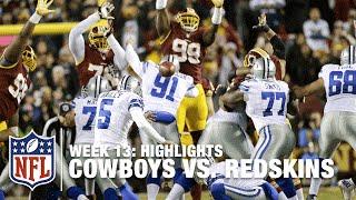 Cowboys vs. Redskins   Week 13 Highlights   NFL