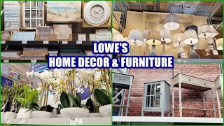 LOWE'S HOME DECOR AND FURNITURE SHOP WITH ME 2021
