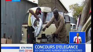 Radio personality Larry Asego enters his Volkswagen for the concours d'elegance