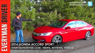 Review: 2016 Honda Accord Sport on Everyman Driver