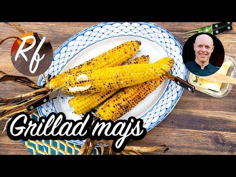 Grillad majskolv är nästan ett måste på varje grill och barbecue.Billigt, lättlagat och gott. Du kan grilla färsk majs med eller utan blast; eller förkokt majskolv.>