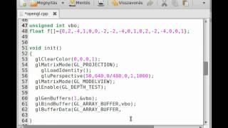 OpenGL tutorial 24 - VBO and vertex array