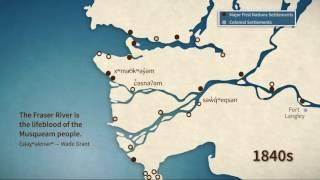 Animation of the Fraser River Delta