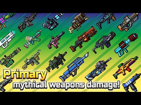 Pixel Gun 3D - Primary Mythical Weapons Shots Damage + Reloading Animations