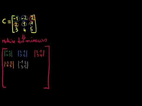 Inversion d'une matrice 3x3 - mineurs et comatrice