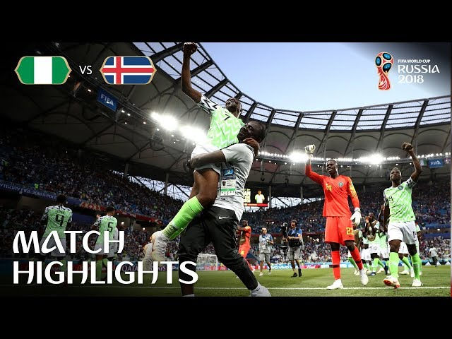Nigeria sparkle in 2-0 win over Iceland
