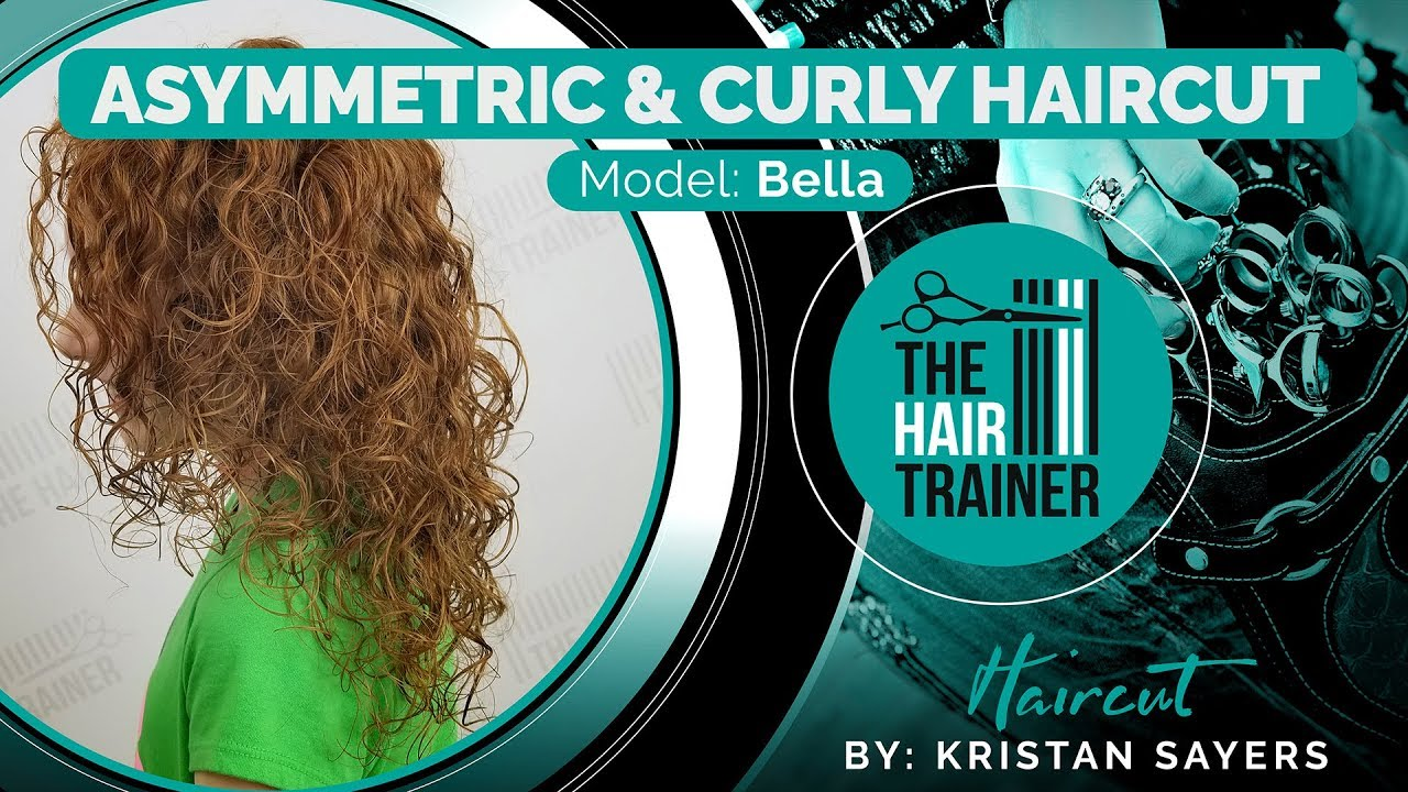 Bella - Asymmetric & Curly Mid-Length Haircut