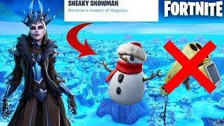 Fortnite New Sneaky Snowman + End of Quad Launcher Update Live! (New Update)