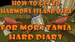 How to get to Harmony Island an unlock a new herb patch osrs ....Hard Morytania Diary