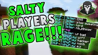SALTY PLAYERS RAGE AT ME! ( Hypixel Skywars )