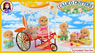 Sylvanian Families Calico Critters Airship Sky Adventure Toy Poodle Family Unboxing Review Silly Pla