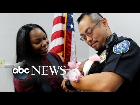 Body camera captures Georgia cop saving infant in distress