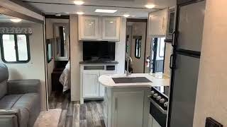 Amazing Interior On This New Travel Trailer!  2020 Keystone Bullet 287QBS