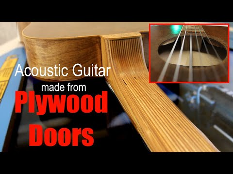 Acoustic Guitar Made Entirely of Closet Doors
