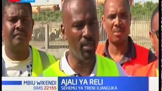 Shughuli za usafiri zatatizika kisiwani Mombasa baada ya treni iliyobeba petroli kuanguka