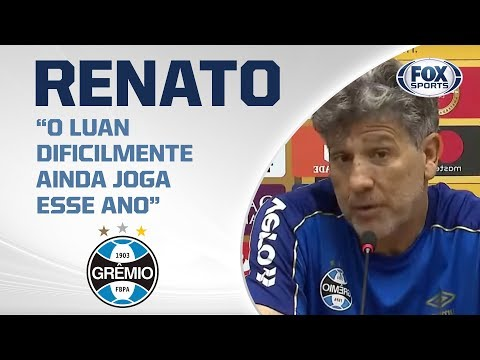 RENATO GAÚCHO FALANDO! Treinador do Grêmio concede entrevista coletiva antes da decisão de amanhã