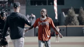 Quavo First Pitch at NLDS Game 2 | Atlanta Braves