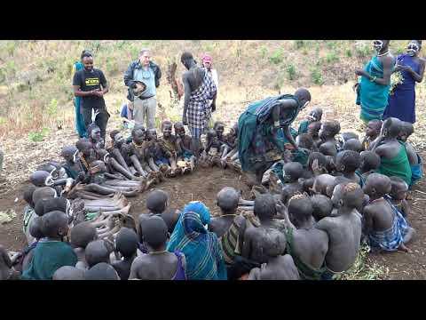 Village Children Sing in the Omo Valley --  Surma People