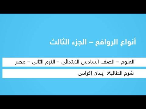 أنواع الروافع ( اج 3 ) - العلوم - للصف السادس الابتدائي - الترم الثاني - المنهج المصري - نفهم