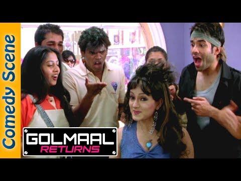 Tusshar Kapoor Comedy Scene - Golmaal Returns - Arshad Warsi - Kareena Kapoor - Indian Comedy