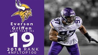 #19: Everson Griffen (DE, Vikings) | Top 100 Players of 2018 | NFL